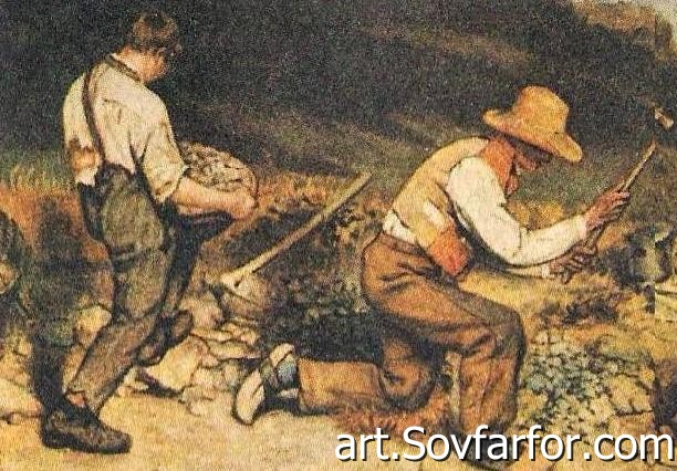 stone breakers courbet essay The importance of both the theme of the stonebreakers and courbet's  of the  beggar woman in the painter's studio with which i began this essay may be.